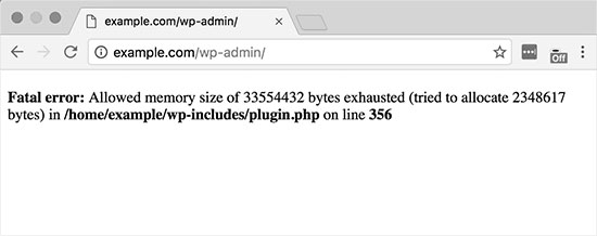 Error de Memoria php Agotada en WordPress