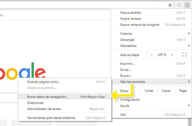 Limpiar cache en Google Chrome para servir contenido fresco de WordPress