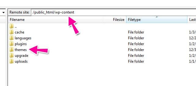 Subir tema de WordPress pof FTP