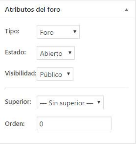 Cambiar los atributos de foro en plugin bbPress