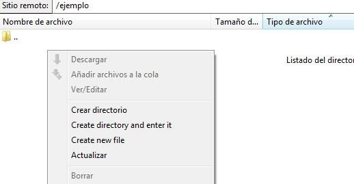 Crear Nuevo Archivo en WordPress mediante programa FTP