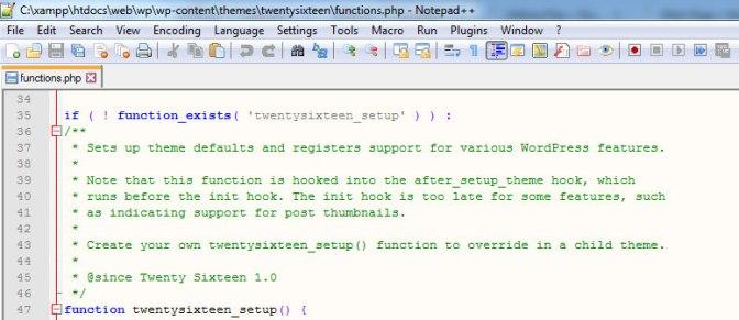 Editar archivos WordPress con Notepad++