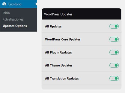 Habilitar todas las actualizaciones de WordPress con Easy Update Manager