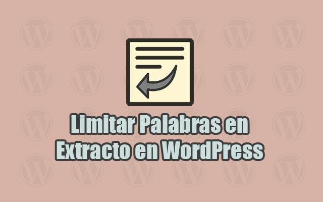 Limitar Palabras en Exctracto Excerpt en WordPress