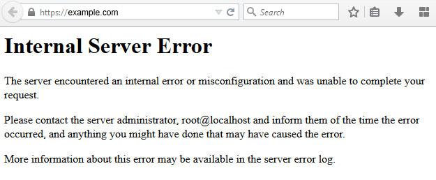 Mensaje de 500 Error Internal Server Error en WordPress