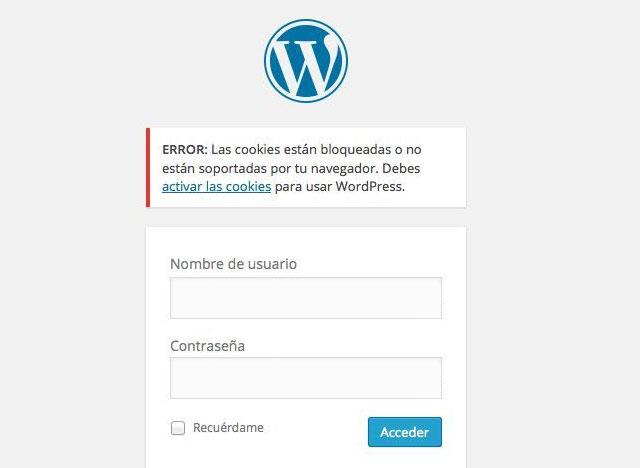 Solucionar problema de acceso de cookies en WordPress