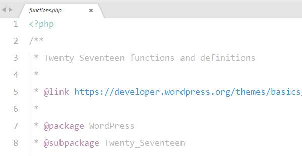No dejar espacio blanco antes de la etiqueta de apertura del archivo functions.php