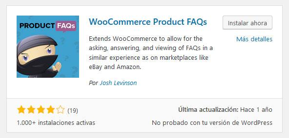 Plugin WooCommerce Product FAQs