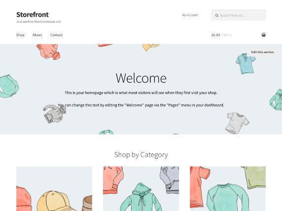 Enlace de demo del gratuito tema Storefront de WordPress