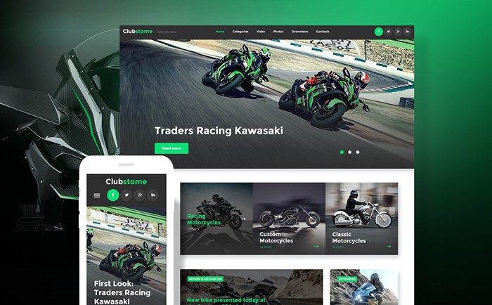 Motorcycling Blog WordPress Theme