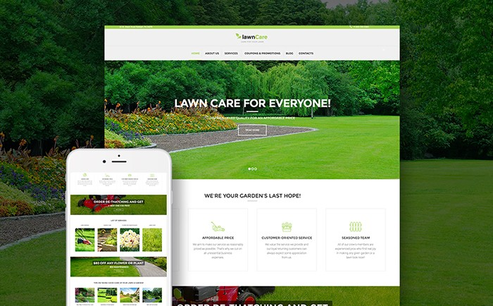 Lawn Maintenance WP Theme