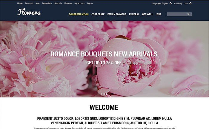 Selling Flowers OsCommerce Template