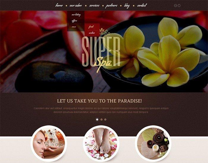 Super Spa Beauty Salon WordPress Theme
