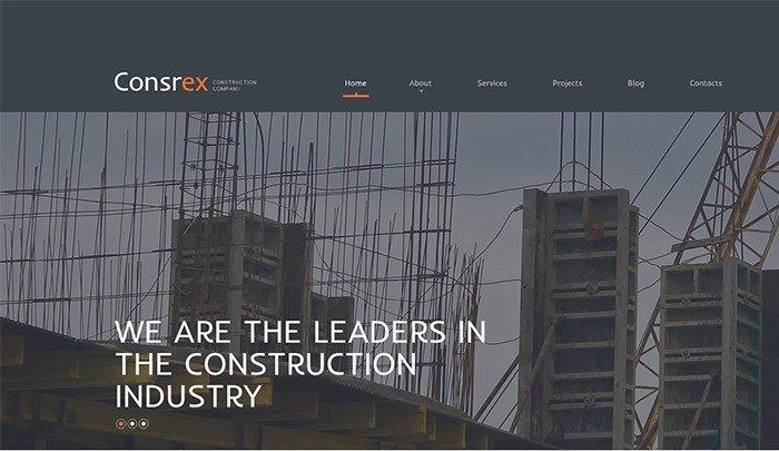 Ready-made Construction Company WordPress Theme
