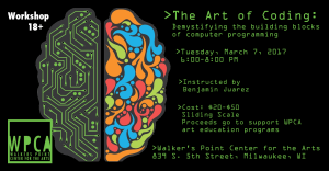 Workshop: The Art of Coding (for adults 18+)
