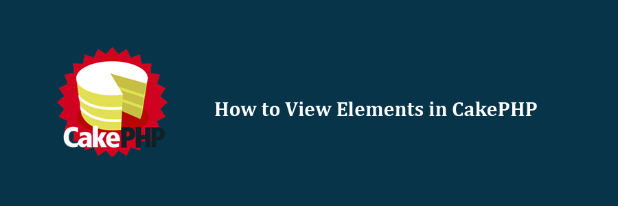 View Elements in CakePHP