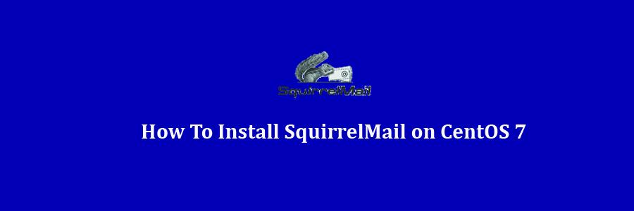 SquirrelMail on CentOS 7