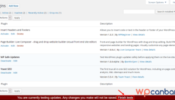 Test thử plugin WordPress trước khi update chính thức