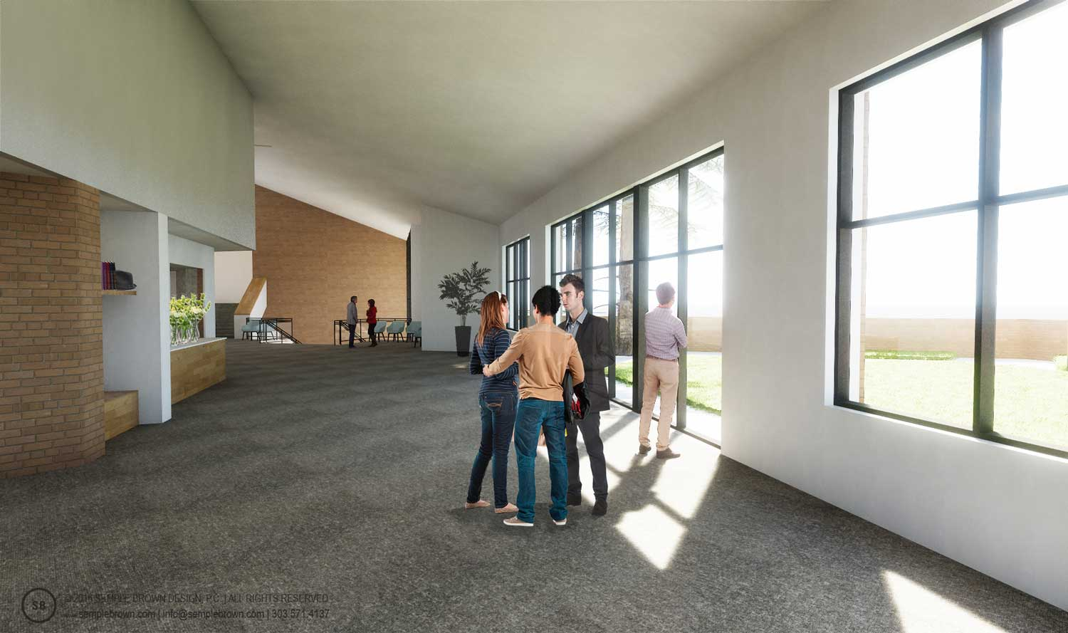 Proposed Wellshire Church Narthex Interior, looking South