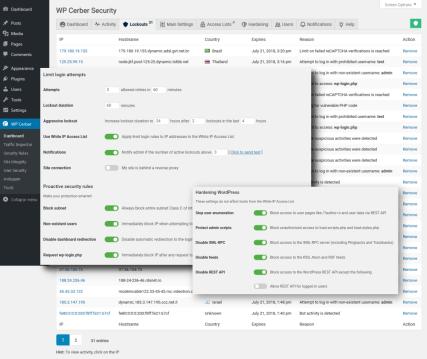 WordPress firewall - protection and attack blocking