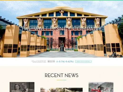 The Walt Disney WordPress website