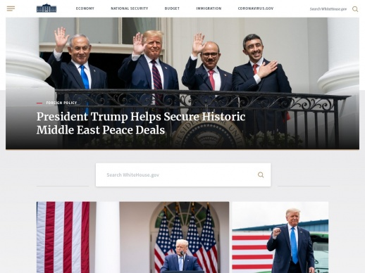 The White House WordPress website