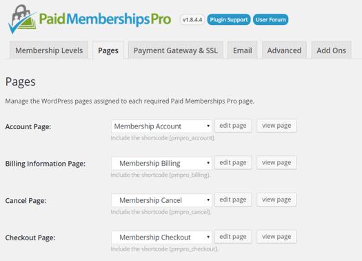 Pro Memberships Pro Plugin