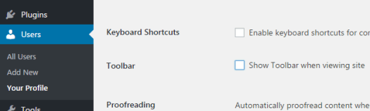 Disabling Admin Toolbar in WordPress