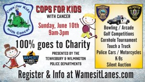 Wilmington & Tewksbury Police  Departments Join With Wamesit Lanes To Host Benefit For Kids With Cancer