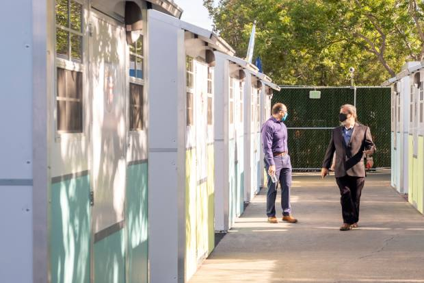 Tiny Homes Village opens in Reseda to help shelter homeless