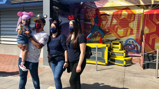 Disneyland welcomes hunger fighting 'superheroes' as first visitors to Avengers Campus