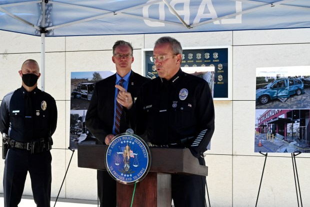LAPD bomb squad miscalculated explosives before South LA blast, chief says