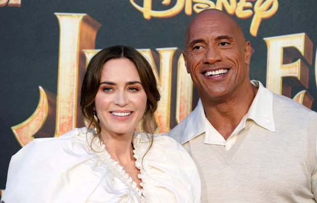 Emily Blunt rides Jungle Cruise for first time at Disneyland movie premiere