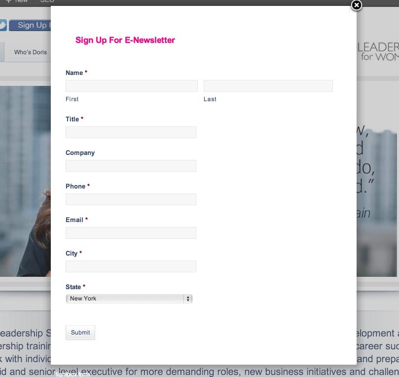 form lightbox plugin for WordPress