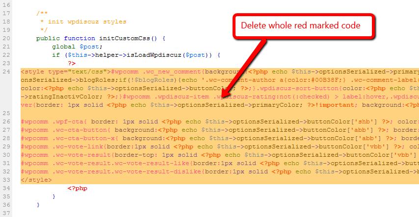 Option to remove inline styles | WordPress org