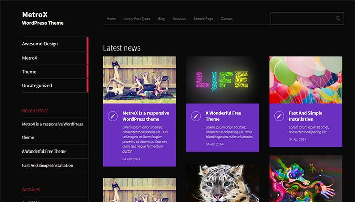 MetroX WordPress Theme