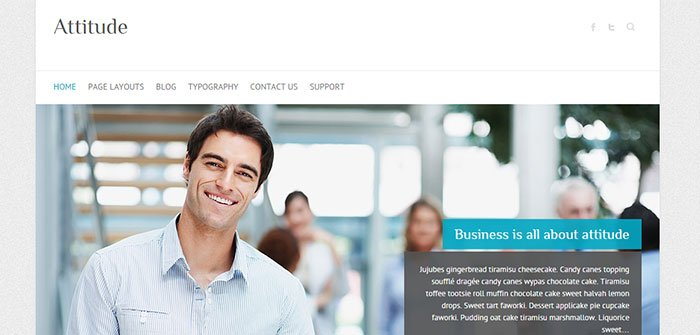 Attitude Retina Ready WordPress Theme