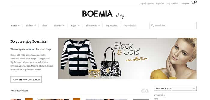 Boemia - Best eCommerce WordPress Theme