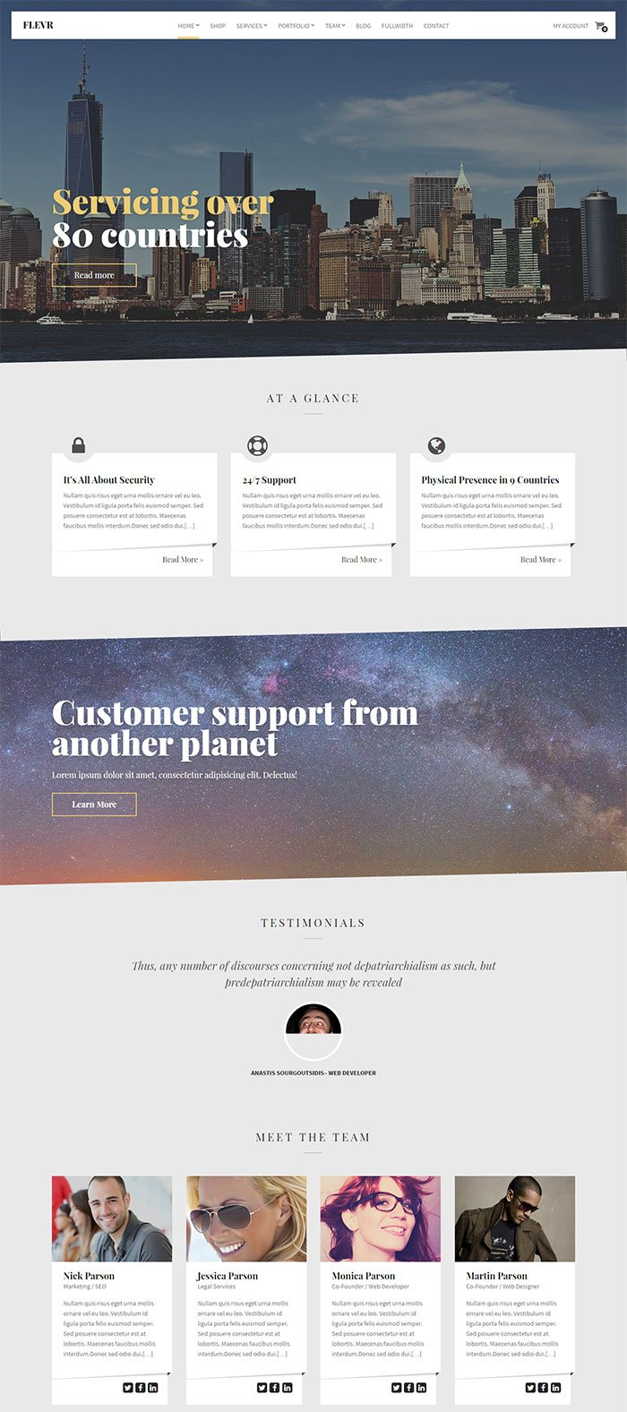 Flevr WordPress theme