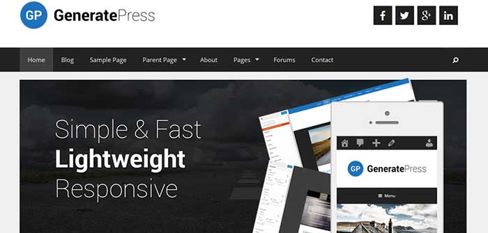GeneratePress - Free WordPress Theme