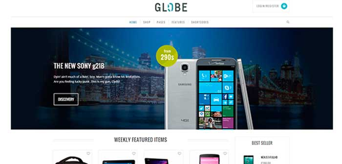 Globe WordPress Theme