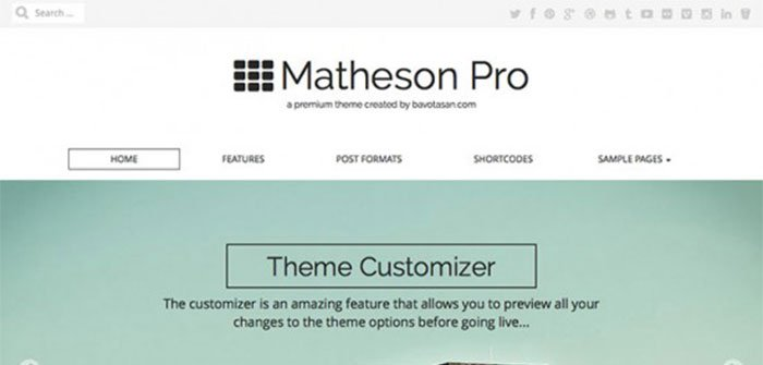 Matheson WordPress Theme