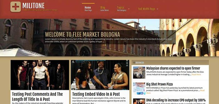 Militone - News/Magazine WordPress Theme