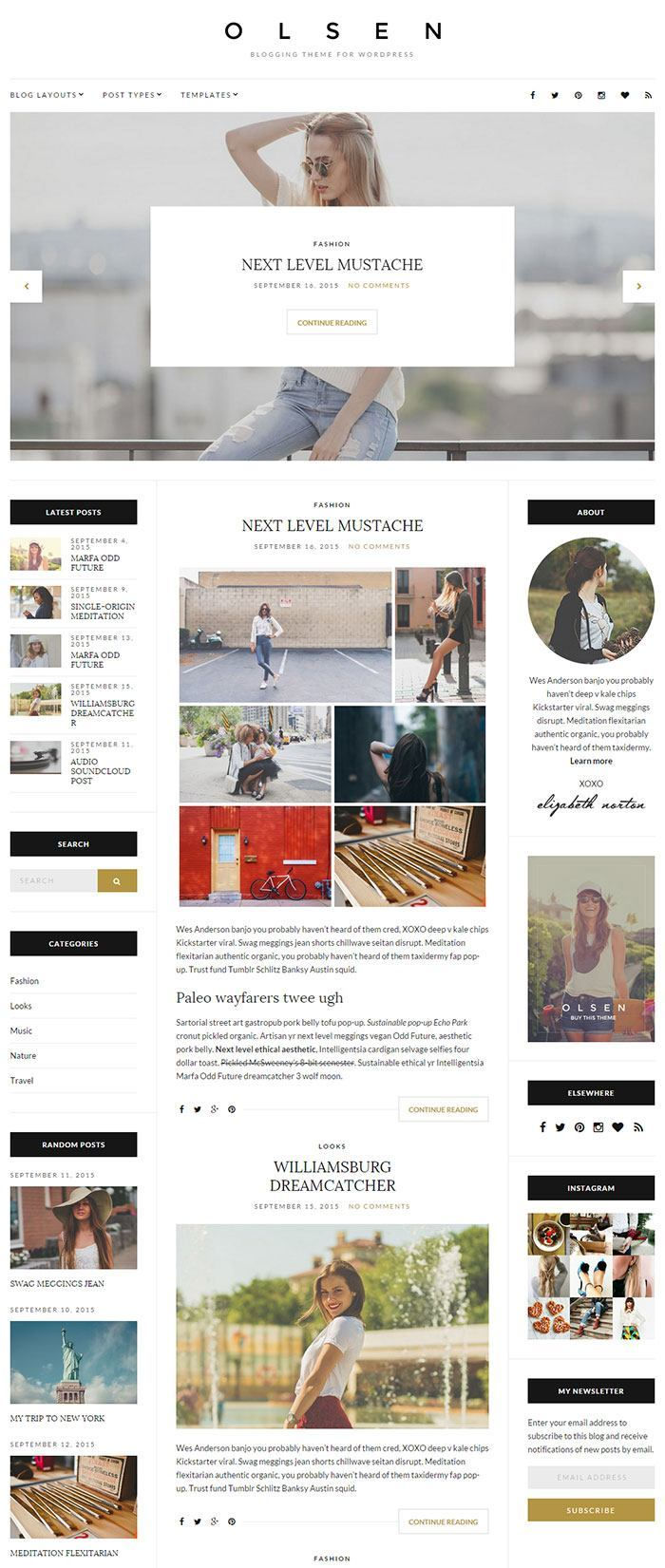 Olsen - Blogging WordPress Theme