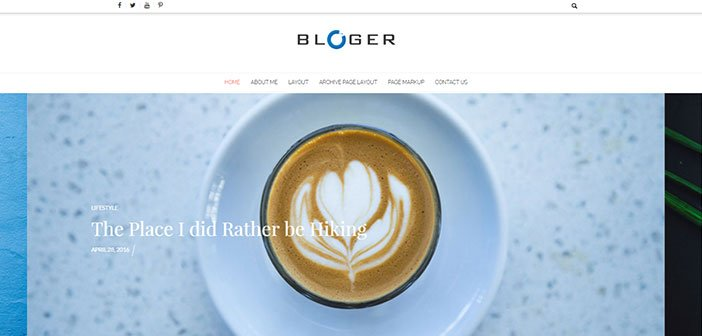 Bloger - Simple and Clean Blog WordPress Theme