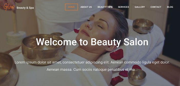 Glow - Beautiful Spa / Salon WordPress Theme