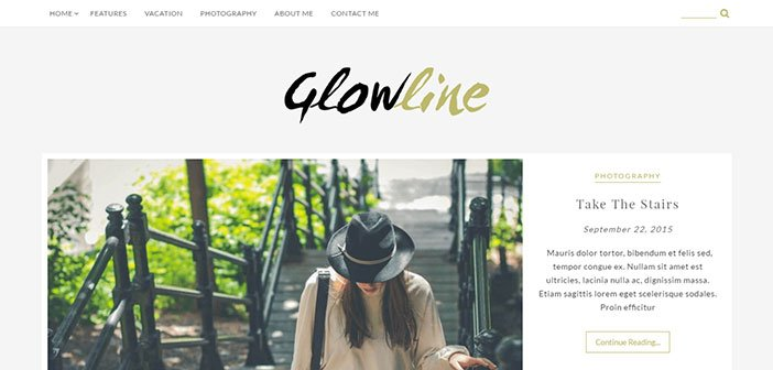 GlowLine - Beautiful Blogging WordPress Theme