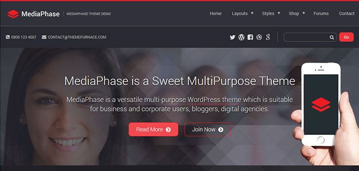 MediaPhase - Multi-purpose WordPress Theme