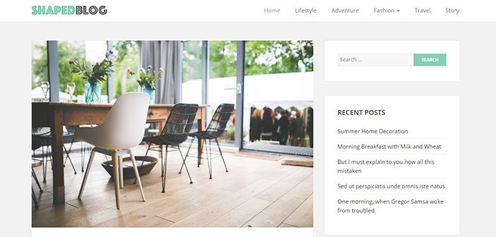 Shaped Blog – Responsive Personal Blog WordPress Theme