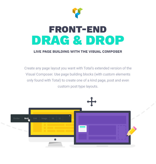 Total WordPress Theme Drag & Drop Features